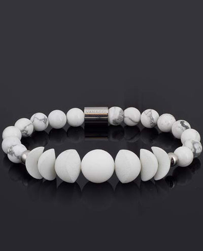 Vanacci Lockstone All White Perfume Bracelet