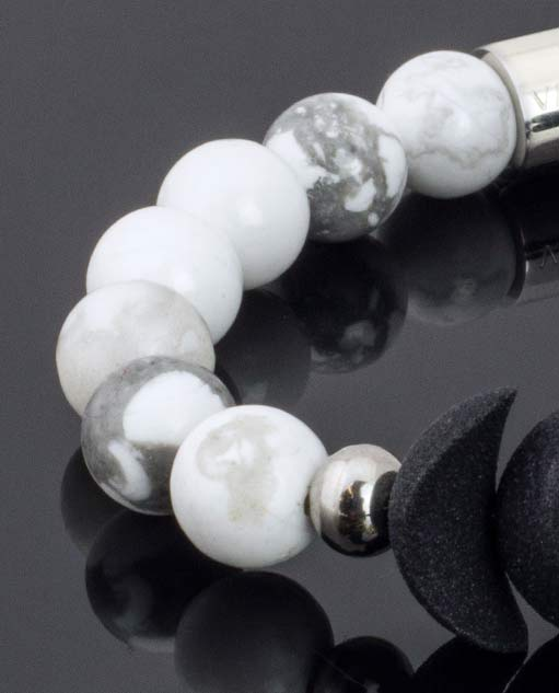 White and Black Perfume Bracelet with the lunar cycle