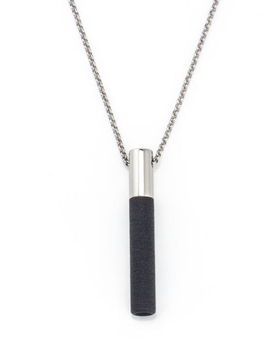 Lockstone Plus Steel Pendant With Chain & Three Black Stones
