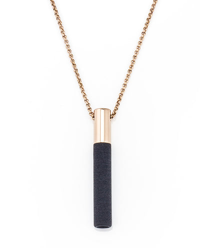 Lockstone Plus Rose Gold Pendant & Three Black Stones