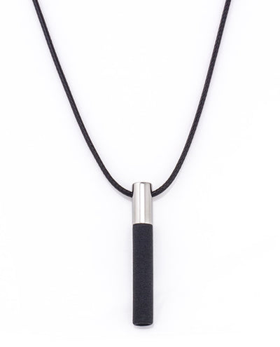 Lockstone Plus Steel Pendant With Cotton Necklace & Three Black Stones