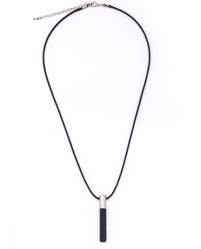 Lockstone Plus Steel Pendant With Cotton Necklace