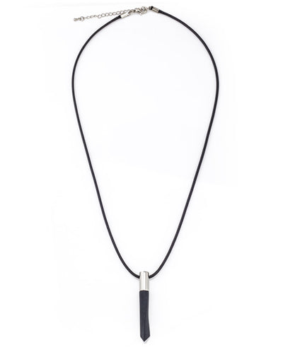 Vanacci Geo Tri Pendant in black and stainless steel with clasp