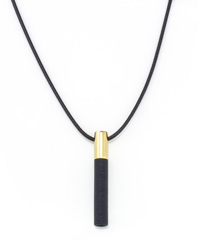Lockstone One Brass Pendant & Black Stone