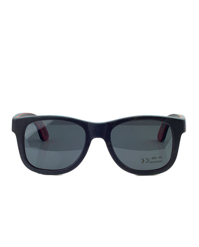 Vanacci Anthracite Natural wooden Sunglasses For Her