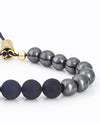 Hematite & Gold Adjustable Bracelet