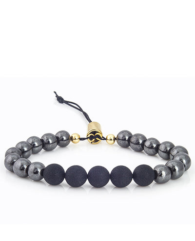 Vanacci Lockstone Adjustable gold haematite bracelet