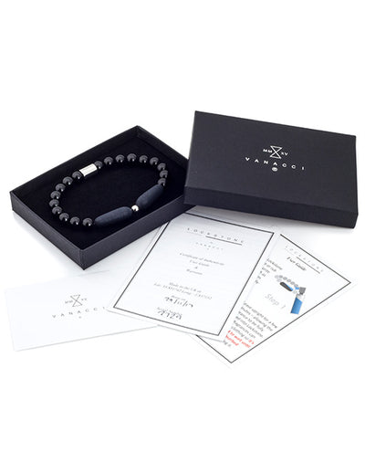Vanacci One Range Black Pearl Bracelet In black velvet box