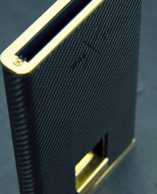 24crt Gold Carbon Evo Minimal Wallet - Mach Leather