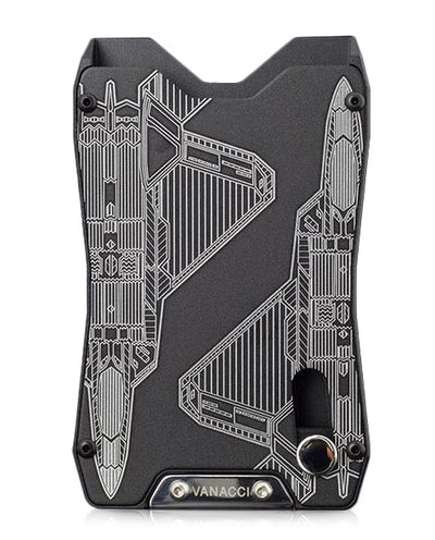 Vanacci black credit card holder. Engraved with the F-22 Raptor