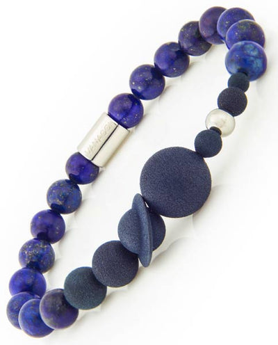 Vanacci Lockstone Lapis lazuli Perfume Bracelet with the planets of the solar system