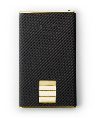 Vanacci Carbon Gold Wallet in Mach Leather front