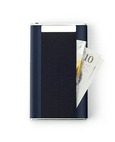 Vanacci Carbon Wallet in Abyss Leather With cash storage on the back