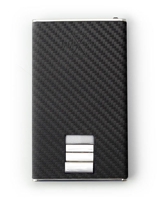 e792a7370b1ad8 Vanacci Carbon Wallet in GT Leather and stainless steel font