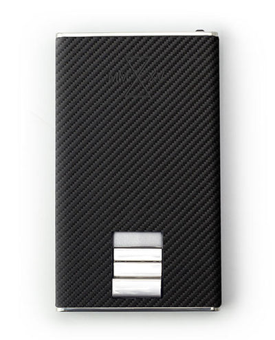 Vanacci Carbon Wallet in Mach Leather front