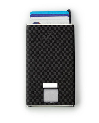 Vanacci Carbon Wallet in TT Leather Ejecting credit cards