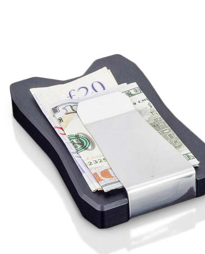 Vanacci black credit card holder, with money clip