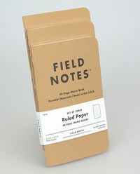 Field Notes Ruled Notebook (Pack of Three)