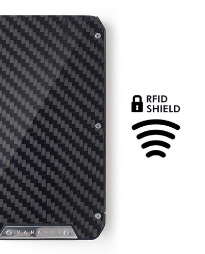 Vanacci Stealth 3 wallet full carbon fiber and RFID shield Logo
