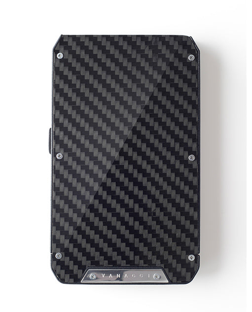 Vanacci Stealth 3 executive wallet with full Carbon Fibre front