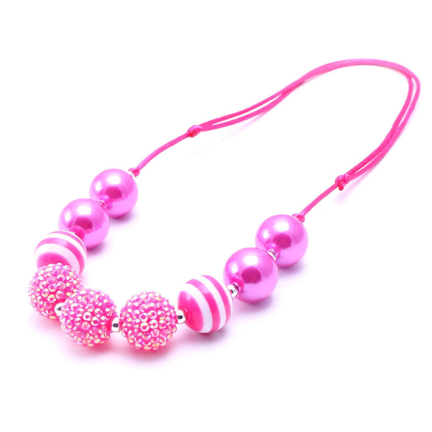 Children's chunky bead necklaces, bubblegum necklaces, gum ball necklaces