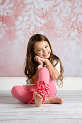 PREORDER Icing Ruffle Leggings - Bubblegum - Pearls and Piggytails