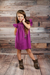 Pearl Dress - Plum - Pearls and Piggytails