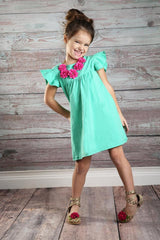 Pearl Dress - Dark Mint