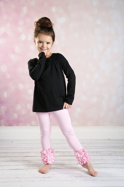 Icing Ruffle Leggings - Light Pink