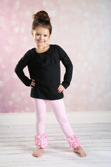 Icing Ruffle Leggings - Light Pink - Pearls and Piggytails