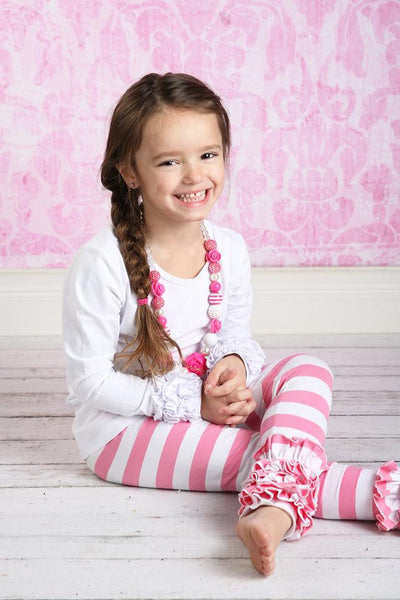 PREORDER Icing Ruffle Leggings - Strawberry Shortcake