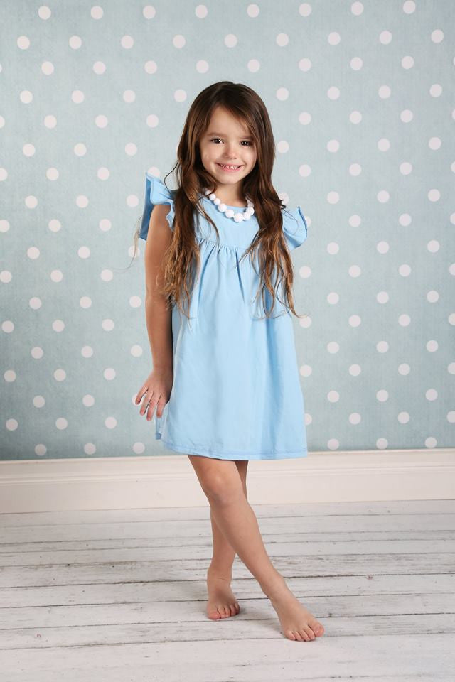 Pearl Dress - Light Blue - Pearls and Piggytails