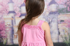Nessa Ruffle Dress - Pink - Pearls and Piggytails