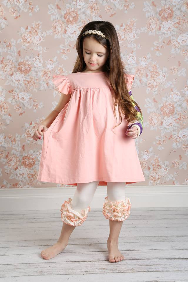 Pearl Dress - Peach - Pearls and Piggytails