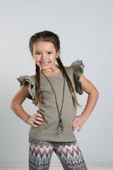 Felicity Flutter Tank - Taupe - Pearls and Piggytails