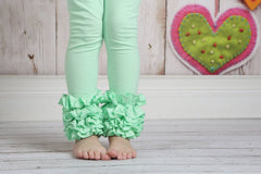 Icing Ruffle Leggings - Thin Mint