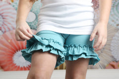 Ruffle Shortie - Storm - Pearls and Piggytails