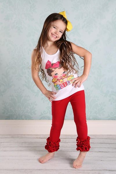 PREORDER Icing Ruffle Leggings - Red