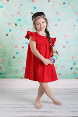 Pearl Dress - Red - Pearls and Piggytails