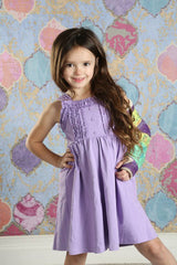 Nessa Ruffle Dress - Purple - Pearls and Piggytails