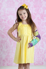 Nessa Ruffle Dress - Light Yellow - Pearls and Piggytails