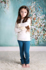 PREORDER Icing Ruffle Leggings - Jade - Pearls and Piggytails