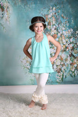 PREORDER Icing Ruffle Leggings - Ivory - Pearls and Piggytails