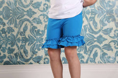 Ruffle Shortie - Sapphire - Pearls and Piggytails