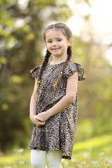 Pearl Dress - Leopard - Pearls and Piggytails