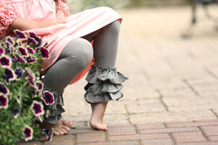 Bella Triple Ruffle Pants - Taupe - Pearls and Piggytails