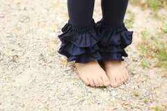 Bella Triple Ruffle Pants - Midnight - Pearls and Piggytails