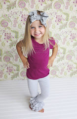 Bella Triple Ruffle Pants - T-Shirt - Pearls and Piggytails