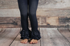 PREORDER Bella Triple Ruffle Pants - Denim - Pearls and Piggytails