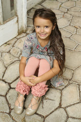 PREORDER Icing Ruffle Leggings - Cinnamon - Pearls and Piggytails